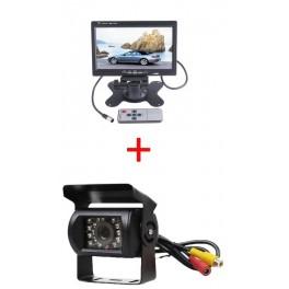 """7"""" 24 V Monitor + vezeték nélküli tolatókamera szett"""
