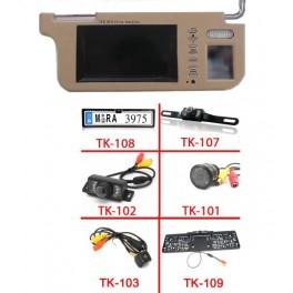 Napellenző monitor + vezeték nélküli tolatókamera szett