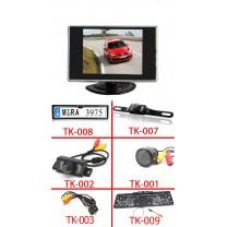 "3.5"" mini monitor + tolatókamera szett"