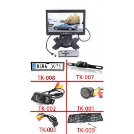 "7"" Monitor + tolatókamera szett"